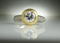 Asymmetric Diamond Ring