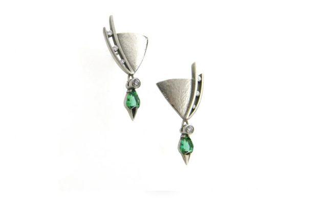 Juno Green Tourmaline Earrings