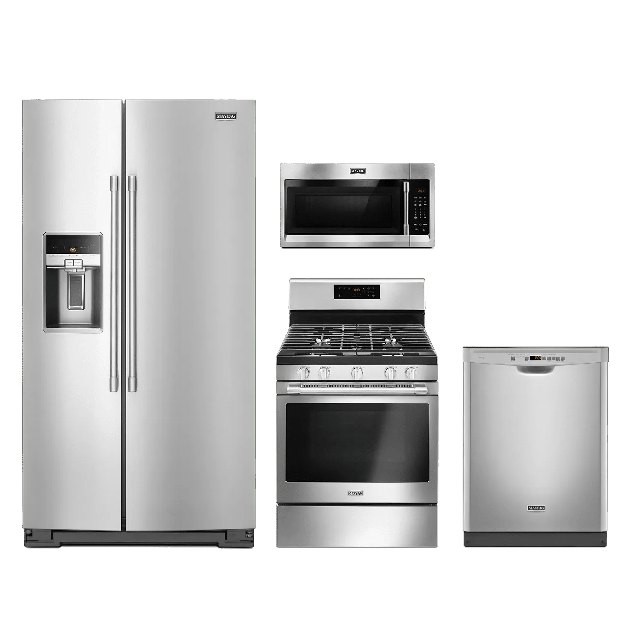 4 piece stainless steel kitchen package electronic scale appliance packages home