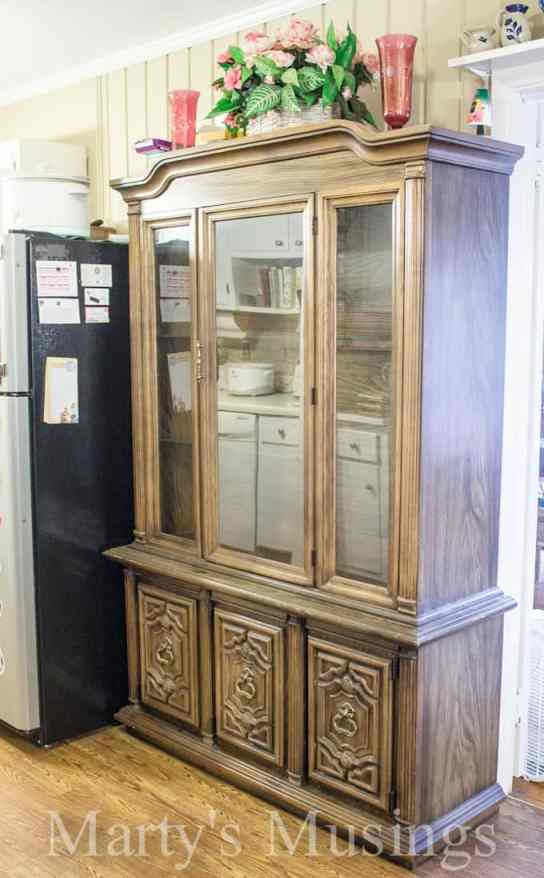 China Hutch Makeover from Marty's Musings