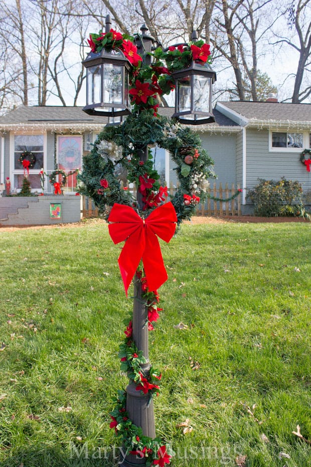 Outdoor Christmas Wreath Mantel Decor Mantels Decorated For