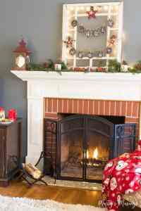 How to Decorate a Christmas Mantel the Cheap Way