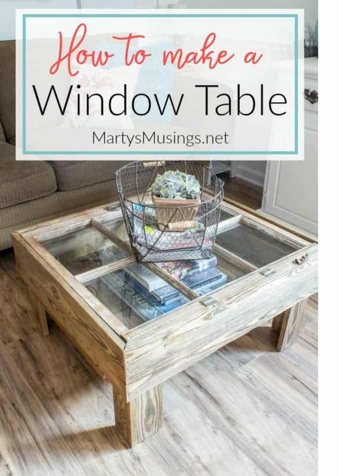how to make a window table for the