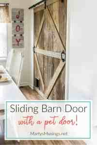 How to Build a Sliding Barn Door (with a pet door!)