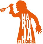 Logotipo Maruja en la cocina