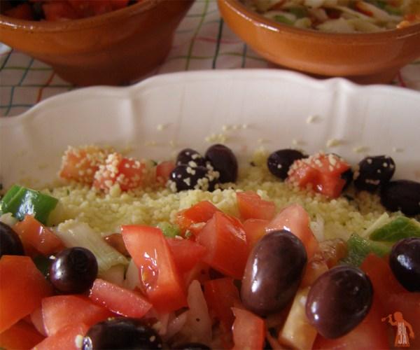 Ensalada tabulé con verdura
