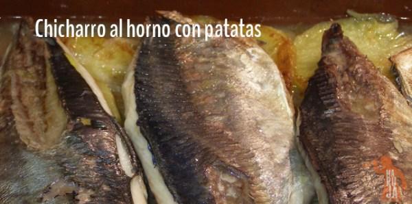 Receta de chicharro al horno con patatas