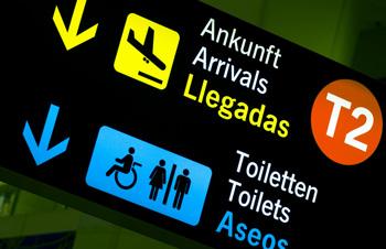 空港のピクトグラム