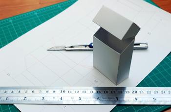 パッケージデザインのモックアップ