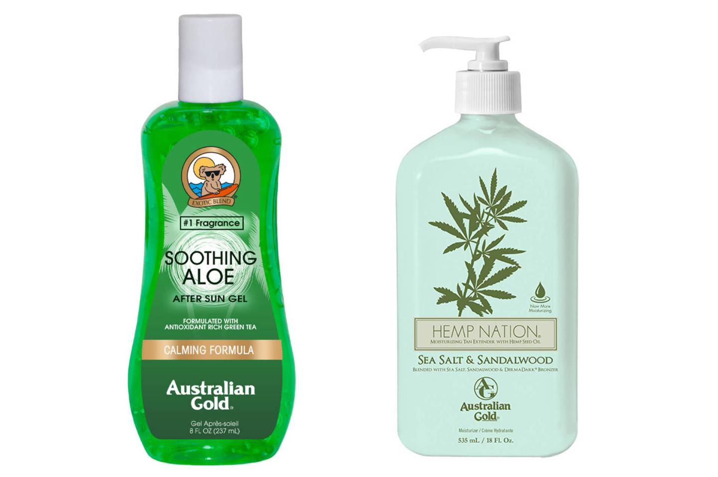 Australian Gold's vernieuwde Botanical zon- én after-sun producten