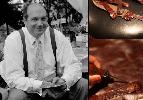 Marusya Suspenders Dad brown leather