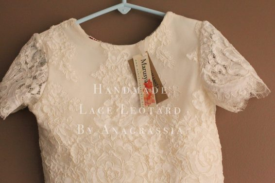 Ivory Alencon Lace Leotard Tulle flower girl dress first communion