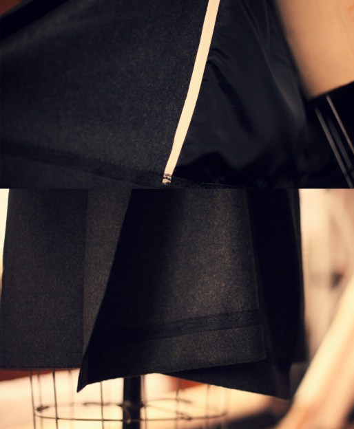 Charcoal coat 4 details