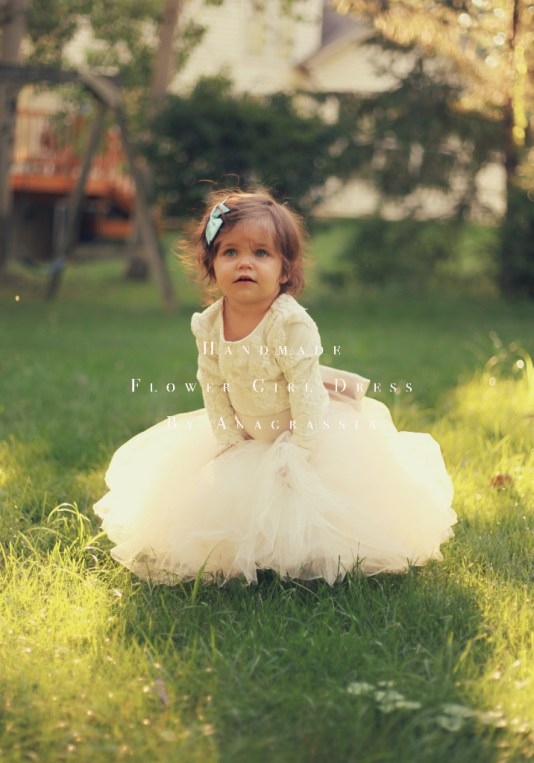Alencon ivory white lace leotard bridal wedding flower girl dress
