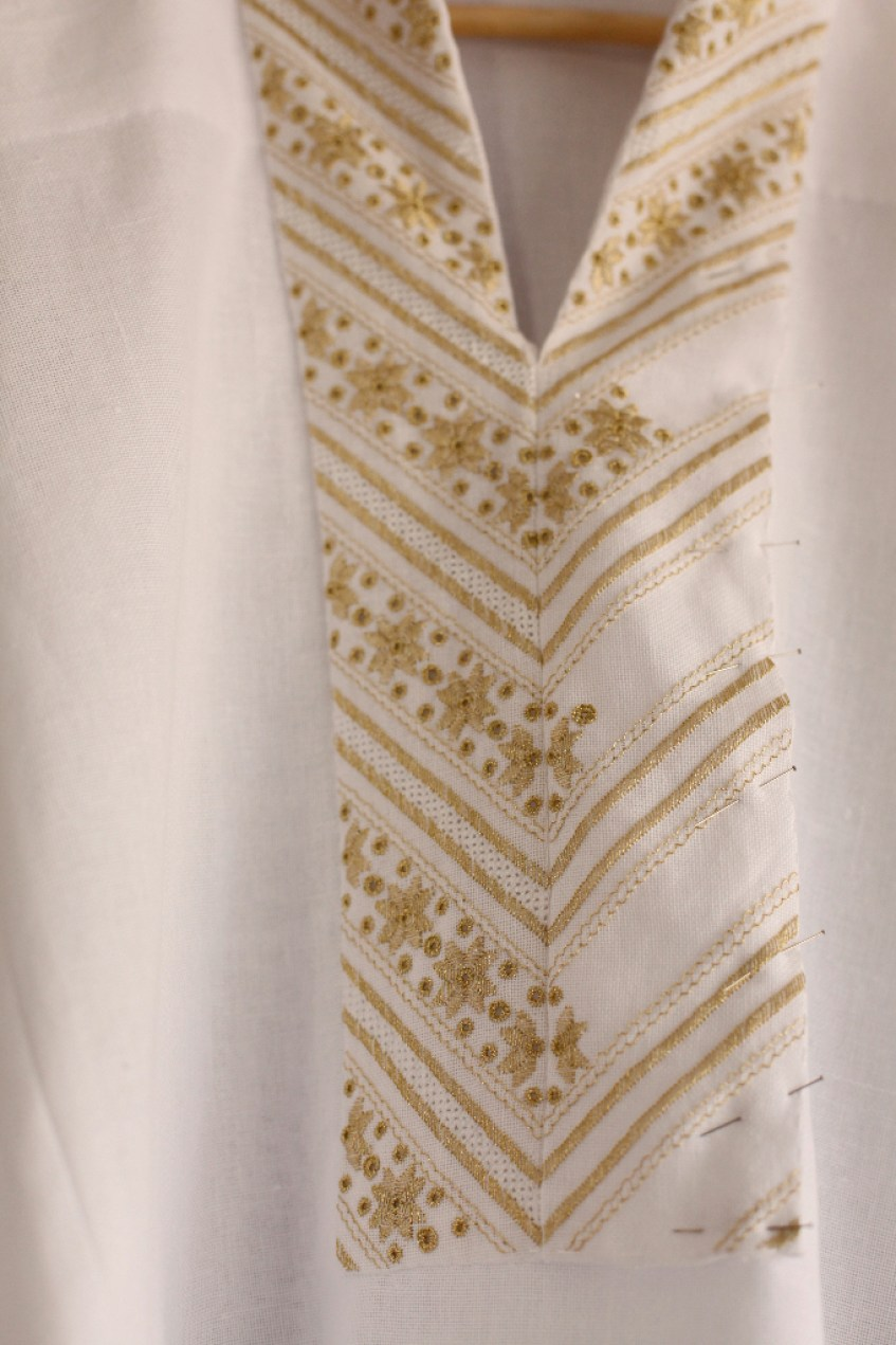 Ukrainian, wedding, dress, embroidery, floral, silk, wool, sewing, fabric, lace, merezka, gold, white, ivory, charmeuse, ukraine, full, skirt, blouse, shirt, bridal, bride