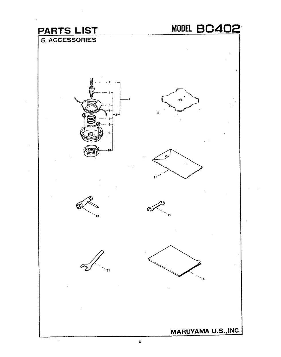 Maruyama Parts BC402 Accessories