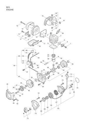 Maruyama Parts Lookup  B23 Parts Diagrams|B23 Engine