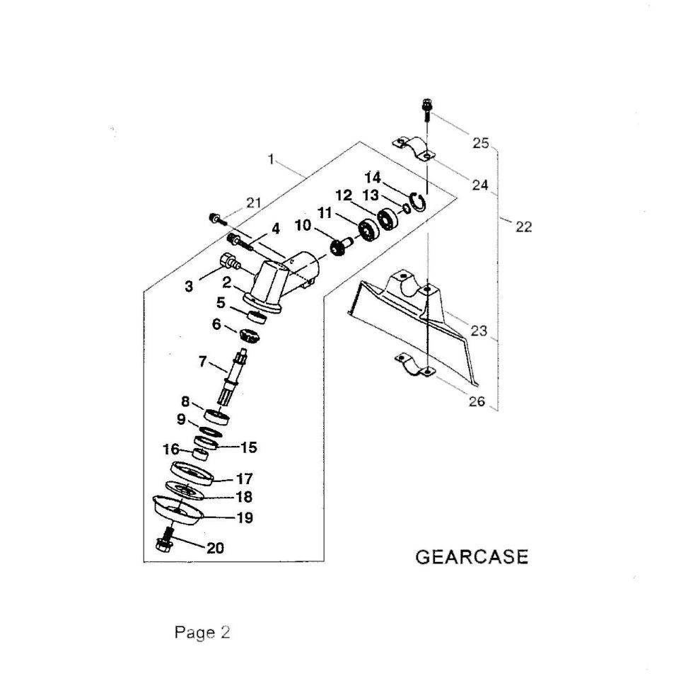 Maruyama Parts, BC200-BC201 Gearcase