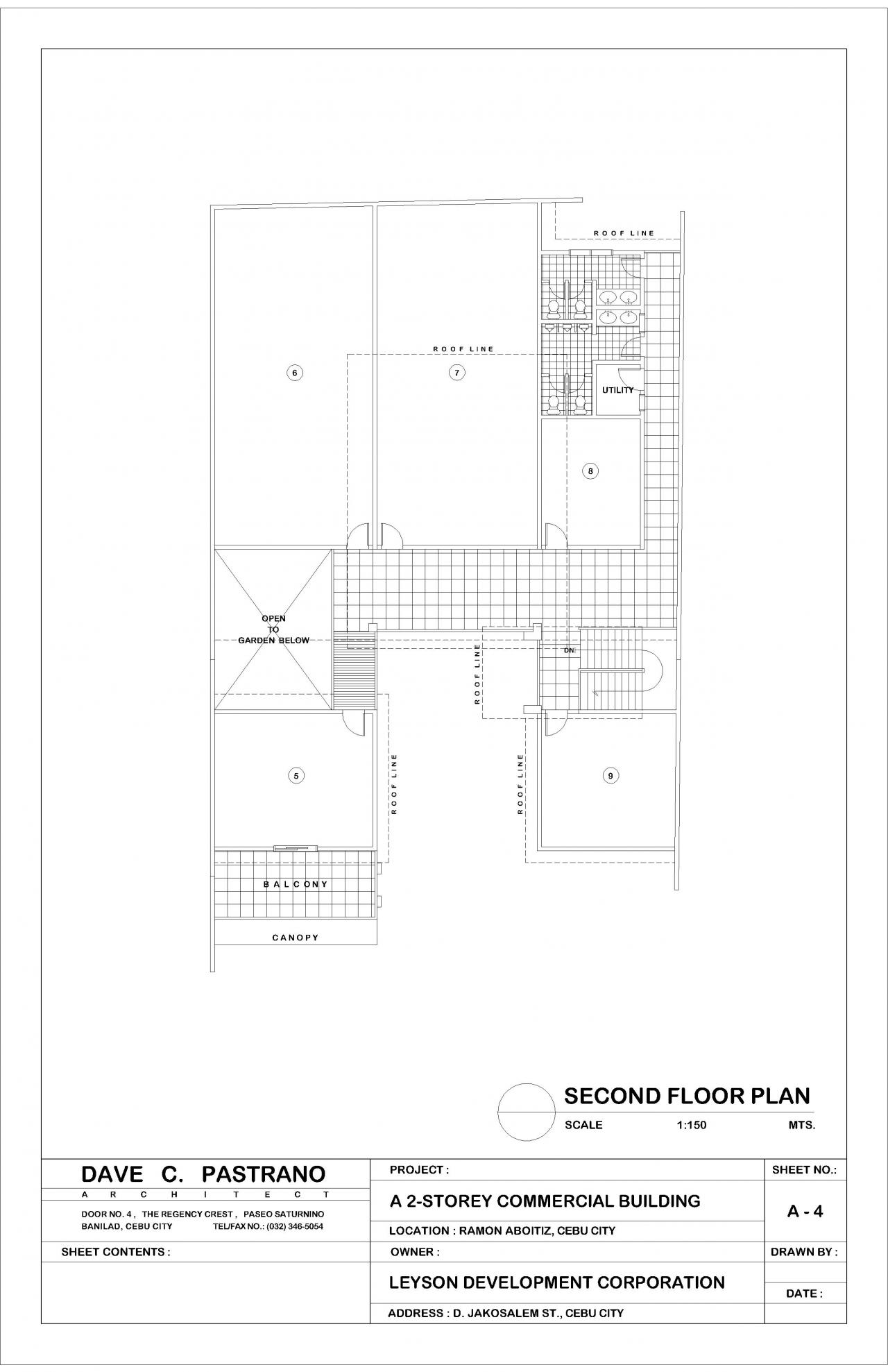 2 Storey Commercial Building Floor Plan