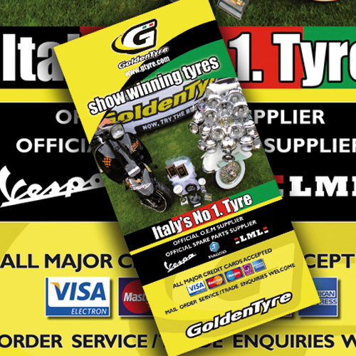 Leaflet and Poster design for tyre fitting company