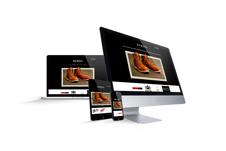 Website design for fashion retailer