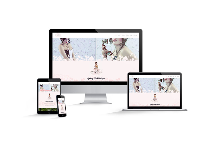 Website design and development for Lyndsey Clark Boutique