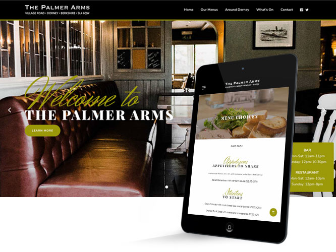 website design and build for public house