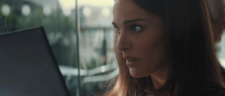 Natalie Portman as Jane Foster in Thor: The Dark World (2013).