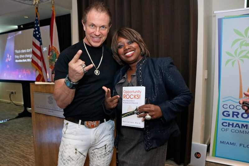 Mark & Lorna Owens with the Opportunity Rocks Book.