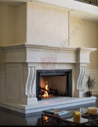 Limestone Fireplace Mantel Surround in New york and chicago