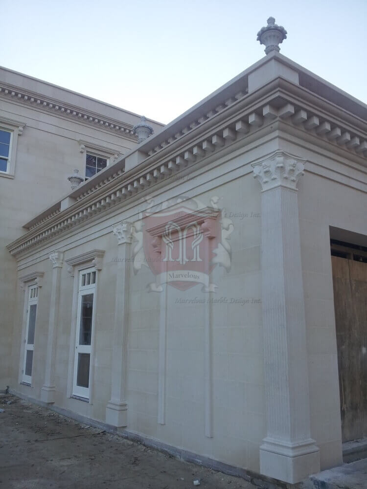 White Limestone Facades Project In New York MArvelous Marble