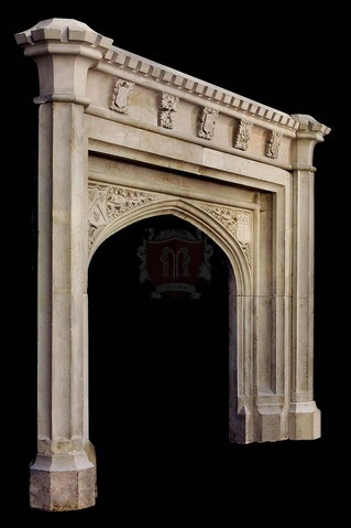 Gothic Limestone Mantels in New York Marvelous Marble