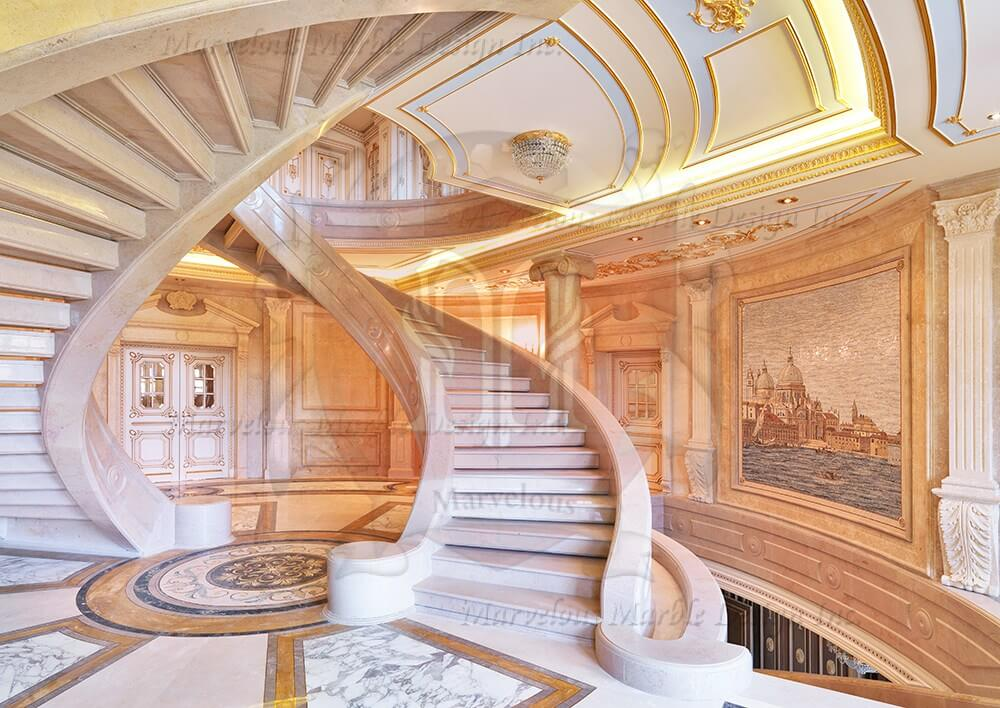 Marble Stairs  Limestone Stairs  Marble Staircase