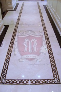 marble floor border designs Hallway | Marvelous Marble