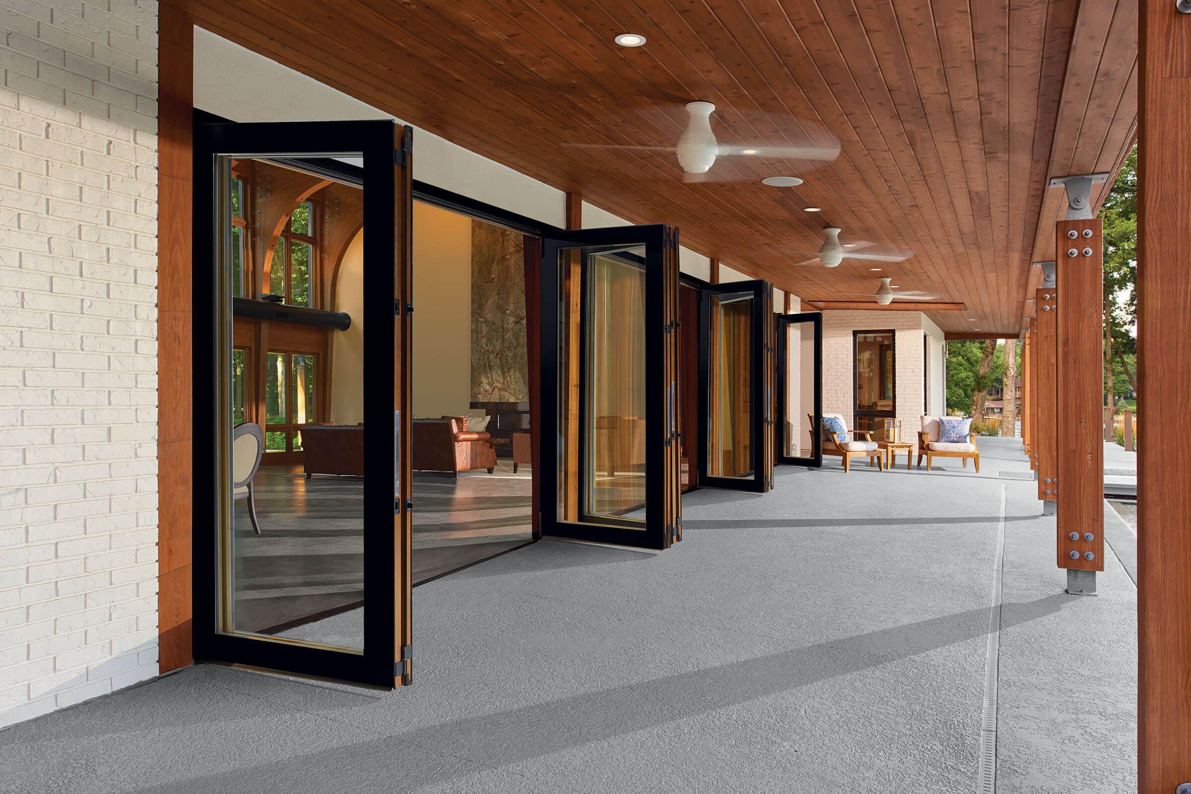 folding glass patio doors glass bi