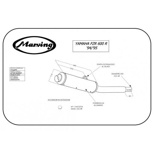 Marving Yamaha Fzr 600 Genesis Y/2139/NC Single