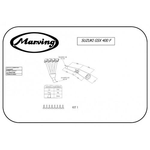 Marving Suzuki Gsx 400 F S/3505/NC Scarico Sportivo