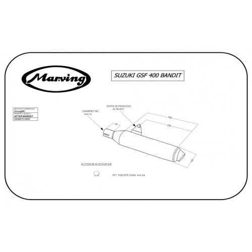 Marving Suzuki Gsf 400 Bandit S/2119/NC Singolo