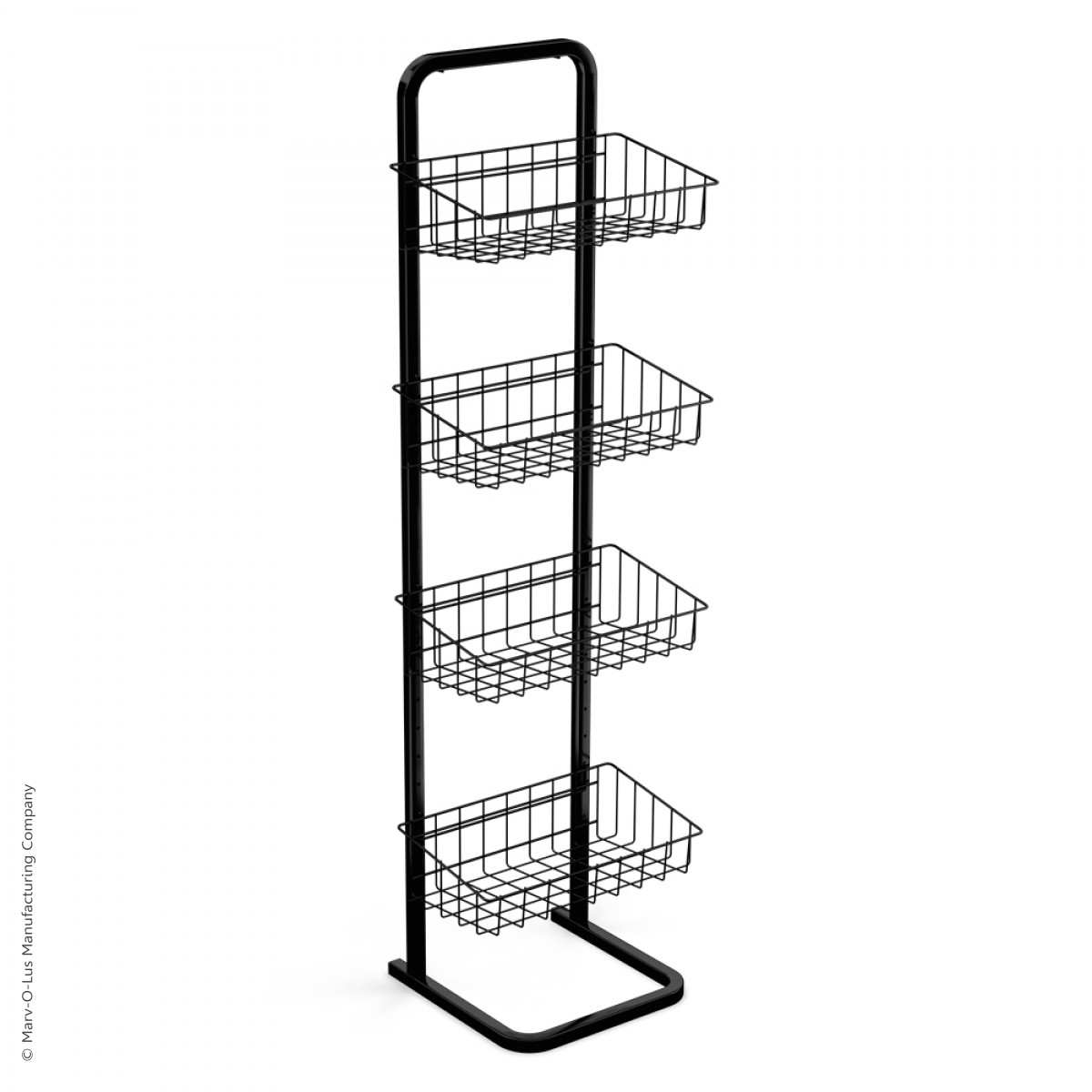 4 Basket Adjustable Floor Display Rack