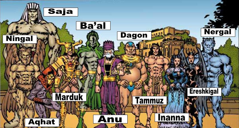 Image result for image of Mesopotamian gods