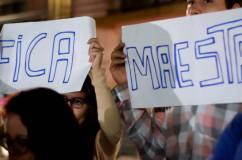 Jovens e trabalhadores manifestam-se contra fechamento de escolas I Foto: Fernando Robeño