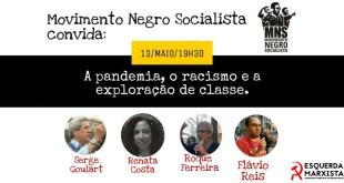 Live: A pandemia, o racismo e exploração de classe