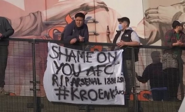 AFC protest Image Caught Offside