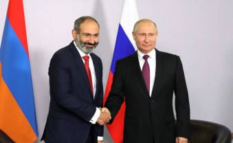 Vladimir Putin and Nikol Pashinyan Image Пресс служба Президента Российской Федерации