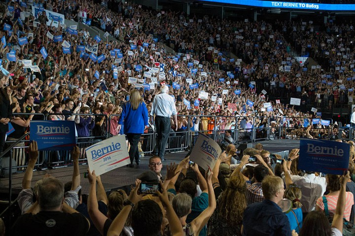 Bernie Sanders rally Image Benjamin Kerensa