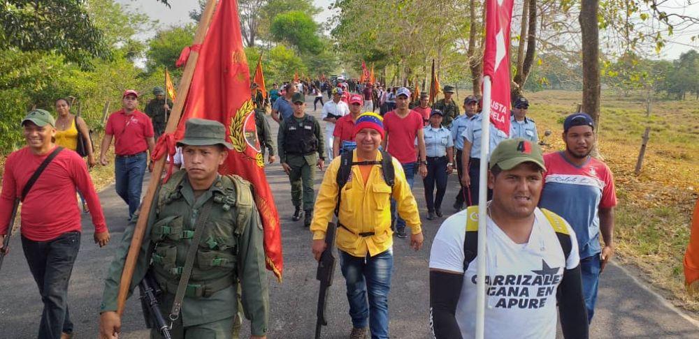 Militias marching