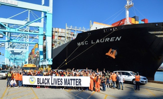 dockworkers BLM strike Image public domain