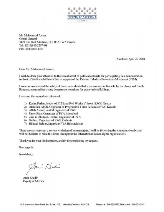 Quebec letter