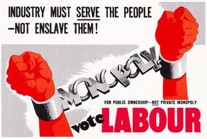 1945 industry must serve labour poster Image public domain