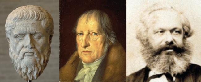 Drei Philosophen Image public domain